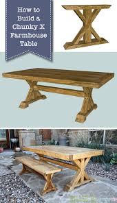 How To Build Farm Table by How To Build A Chunky X Farmhouse Table Pretty Handy