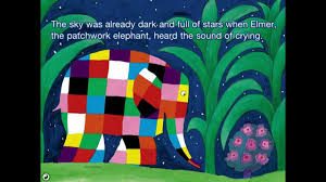 Patchwork Elephant Book - elmer and the lost teddy part 1 book apps