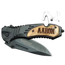 groomsmen pocket knife engraved personalized wood handle rescue pocket knife
