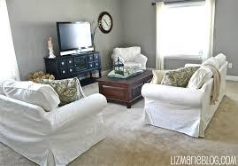 Ikea Slipcovered Sofa by New White Slipcover Ikea Couches Liz Marie Blog