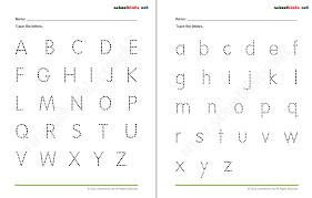 tracing letters worksheets for kindergarten tracing alphabet