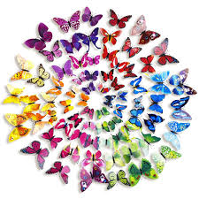 amazon com mudder 6 colors 3d butterfly removable mural stickers amazon com mudder 6 colors 3d butterfly removable mural stickers wall stickers decal for home and room decoration 72 pieces multicolor a home kitchen