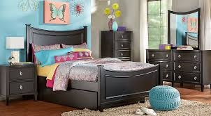 place black 5 pc bedroom bedroom sets black