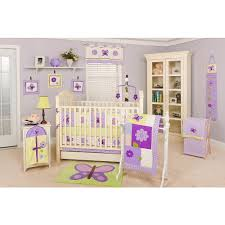 pam grace creations 10 piece crib bedding set lavender butterfly