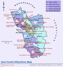 best tourist map of best tourist places in india goa tourism places