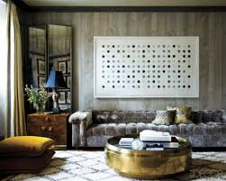 5 round coffee tables in brass for a chic living room