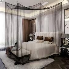 ciel de lit chambre adulte ciel de lit moustiquaire 4coins protection complet reine prince