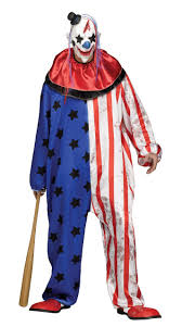 evil clown costume mens and stripes killer fancy dress
