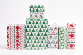 modern christmas wrapping paper mid century modern christmas gift wrap 12 sheets