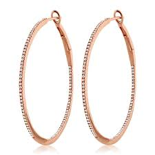 gold diamond hoop earrings diamond hoop earrings large gold