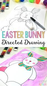 Paas Craft Activity Easter Egg Decorating Kit Directions by Easter Bunny Directed Drawing Craft Activities Easter Bunny And