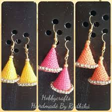 jute earrings creative jute jhumka with pictures simple craft ideas