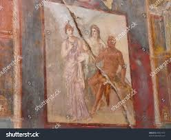 ancient painted wall fresco ancient roman stock photo 47021977 ancient painted wall fresco at the ancient roman city of herculaneum which was destroyed and