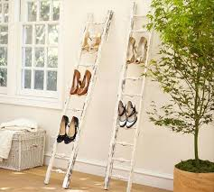 Diy Folding Chair Storage Diy Shoe Rack Leaning Ladder Wall Outdoor