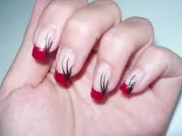 33 red and white nail french designs nails in pics