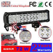 ecco led offroad lights ecco ew2019 rectangular led flood work light l ebay