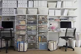 Under Desk Pull Out Drawer Modular Desk And Under Shelves With White Metal Storage Bins