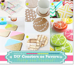 coaster favors diy coasters as party favors pretty and practical