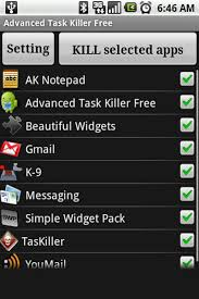 one of the most popular task killer use free advanced task killer - Killer App For Android