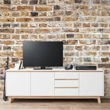 tv lowboard design tv lowboard storberg weiß eiche sonoma dekor interieur