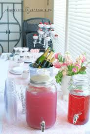 pink drinks mason jars french country home decor party decor