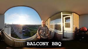 balcony bbq on the new samsung gear 360 2017 360 vr youtube
