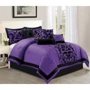 Black And Purple Comforter Sets Queen Purple Bed Comforters