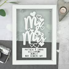 personalised mr and mrs wedding anniversary papercut by the