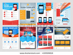 set vector business flyer design templates stock vector 432028816