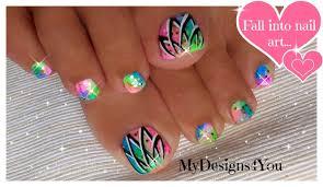 summer toenail art easy neon toenails diseño de uñas de pies