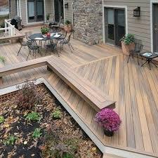 wrap around deck plans ground level deck simplir me