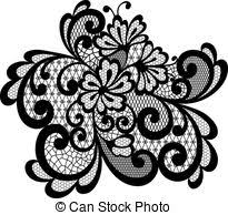 black vector lace vector clip search illustration drawings