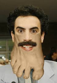 Borat Not Meme - borat with a foot chin pictures
