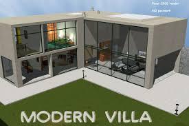 modern villa 3d models greenpots