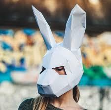 paper halloween mask paper halloween bunny rabbit mask papercraft template festival