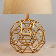 gold geo globe accent lamp base world market