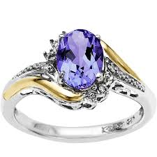 6 carat t g w oval amethyst and tanzanite ring in sterling silver