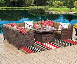 wilson fisher sonoma resin wicker modular patio seating collection