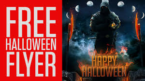 tap free halloween flyer psd youtube