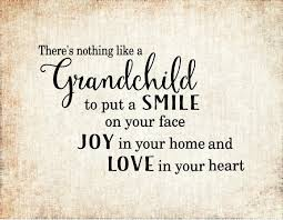 grandchildren love joy smile wood sign canvas wall art