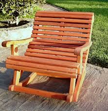 Wooden Rocking Chair Outdoor Wooden Rocking Chair With Built In Lower Back Support