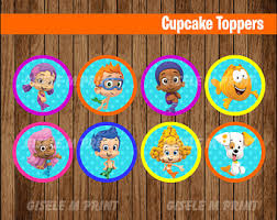 guppies cake toppers printable toppers etsy