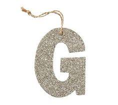 diy german glitter letter ornament c pottery barn holidays