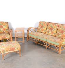 mid century heywood wakefield rattan patio furniture ebth
