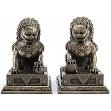 lions statues guardian lion statues foo dog bookends home