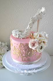 Wedding Shower Cakes Blush Pink And Gold Bridal Shower Cake Cake By Stephanie
