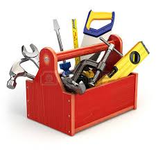 tool box toolbox with tools on white isolated background 3d stock photo