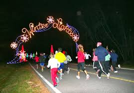 winter lights festival gaithersburg a perfect night for city s run under the lights the town courier