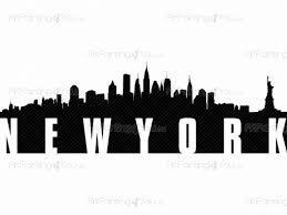 new york skyline wall decals vdv1028en artpainting4you eu new york skyline cities travel wall decals