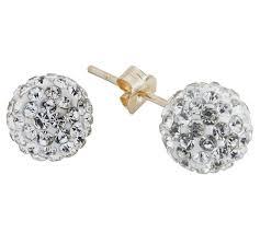 glitter stud earrings buy revere 9ct gold glitter stud earrings at argos co